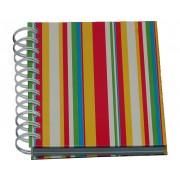Notesbog, Multifarvet m. striber