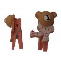 Klemmer, mini - lyserøde Bamser