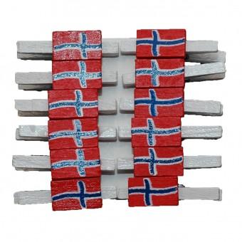 Træklemmer - Små flag, Norge