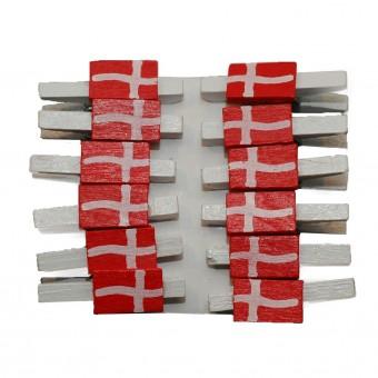 Træklemmer - Små flag, Danmark