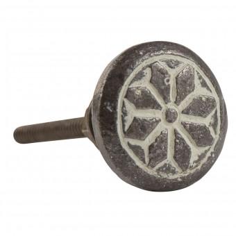 Håndtag/greb, støbejern m. rudemønster