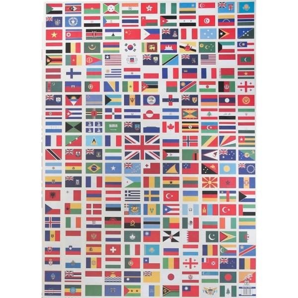 alle verdens flag med navne