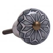 Håndtag/greb, Porcelæn m. rudemønster