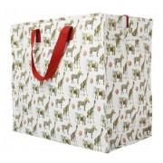 Opbevaringspose - Jumbo taske Zoo Fødselsdag, Str. L