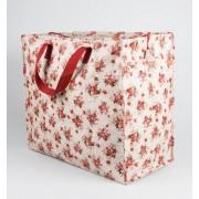 Opbevaringspose - Jumbo taske Lady Rose rød, Str. L