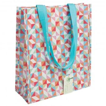 Taske - Shopper, Geometrisk multifarvet, Str. M
