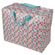 Opbevaringspose - Jumbo taske Geometrisk multifarvet, Str. XL