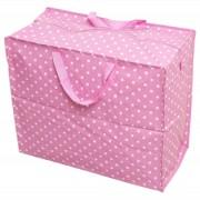 Opbevaringspose - Jumbo taske Pink retrospot, Str. XL