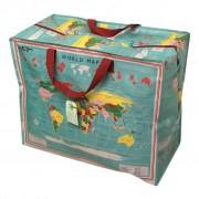 Opbevaringspose - Jumbo taske Verdenskort, Str. XL