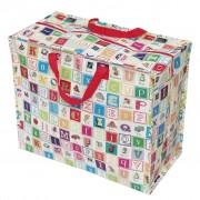Opbevaringspose - Jumbo taske Alfabet, Str. XL