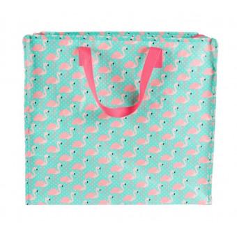 Opbevaringspose - Jumbo taske Freya Flamingo, Str. L
