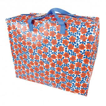 Opbevaringspose - Jumbo taske Ruby den røde blomst Str. XL