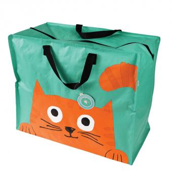 Opbevaringspose - Jumbo taske Kig-katten, Str. XL