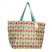 Taske - Shopper, 50'er blomst, Str. L