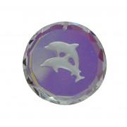 Swarovski blykrystal prisme, rund delfin