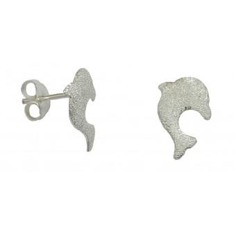Ørestikker i sølv - delfin A15297