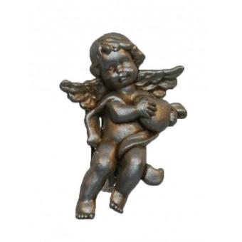 Broche, engel sølv