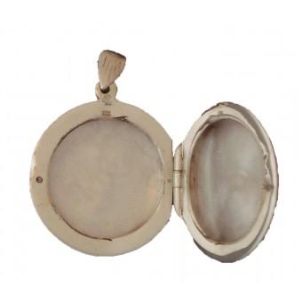Medaljon - Rund -  mønster for-og bagsiden - 2 billeder
