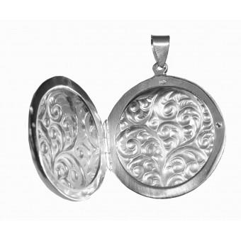 Medaljon - Rund - mønster begge sider - 2 billeder